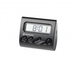 Réveil digital couleur noir avec écran LCD et format compact - Bresser