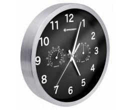 Horloge murale 25cm MyTime avec température et humidité couleur noire - Bresser