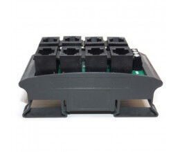 Multiprise RJ12 rail din pour bus 1Wire - Cartelectronic