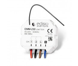 Module encastrable émetteur 230V 2 canaux - Edisio