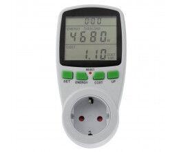 Consomètre, prise avec mesure d'énergie modèle SCHUKO - Greenblue