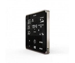 Thermostat chaud et froid pour ventiloconvecteur Noir et Argent - Heltun