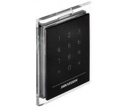 Lecteur de badge RFID Mifare avec finition transparente et clavier - Hikvision
