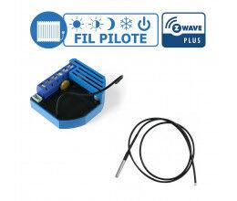 Kit gestion de chauffage fil pilote Z-Wave avec sonde de température  - Qubino