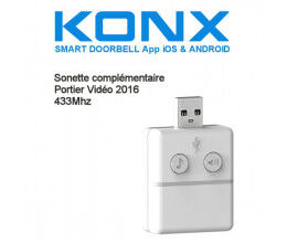 Sonnette 433Mhz pour portier vidéo Konx (version 2016)