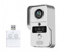 Portier audio et vidéo 720p Wi-Fi avec sonnette USB, détecteur de mouvement, lecteur RFID - Konx