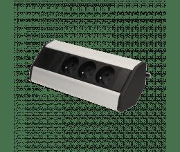 Bloc prise de bureau avec 3 Prises 230V et câble 1.8 m - ORNO