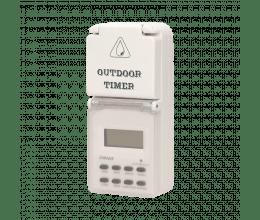 Prise extérieure avec programmateur et écran LCD - Orno