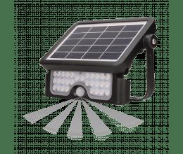 Spot led avec panneau solaire et batterie 3000mAh forte puissance - Orno