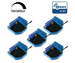 Pack de 5 modules Variateur Z-Wave Plus encastrable - QUBINO