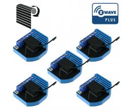 Pack de 5 modules Volets Roulants Z-Wave Plus encastrables - QUBINO