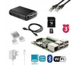 Kit de démarrage Raspberry B3 complet (alimentation, boitier, câbles...)