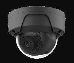 Caméra IP dôme POE H265 2Mpx couleur anthracite - Safire