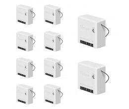 Lot de 10 Micromodules ON/OFF WiFi avec deux entrées interrupteur format Mini - Sonoff