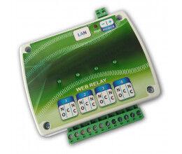 Carte de contrôle quatre relais sur Ethernet - Wizelec