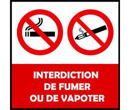Panneau PVC 3mm Interdiction de fumer - Wizelec