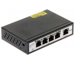 Switch 5 ports dont 4 POE vitesse 100Mbps - Wizelec