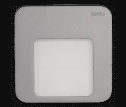 Lampe LED blanc chaud encastrée 230 VAC finition aluminium - Zamel