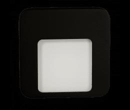 Lampe LED blanc chaud encastrée 230 VAC finition noire - Zamel