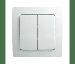 Cadre et double bouton finition Paris pour interrupteur mural sans fil