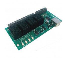 Carte USB X440 4 entrées AD et 4 sorties Relais - GCE