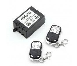 Kit module contact sec On/Off 1000W RF433Mhz compatible RFXCOM et 2 Télécommandes - Emylo